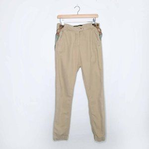 Scotch & Soda linen-blend suspenders pants - xs